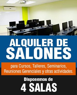 Alquiler de salones para Cursos, Talleres, Seminarios, Reuniones Gerenciales y otras actividades.